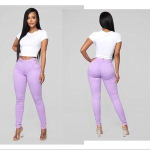 NWT Fashion Nova Lavender Purple Sz 9 Skinny Jeans